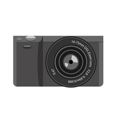 Modern trendy tiny mirrorless camera icon with vector