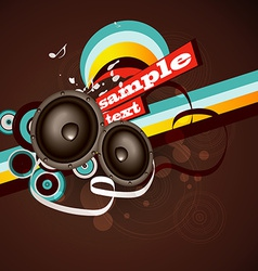muisc background vector image