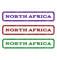 North africa watermark stamp vector