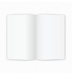 open magazine or book white blank pages template vector image