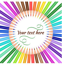 pencils with text vector image