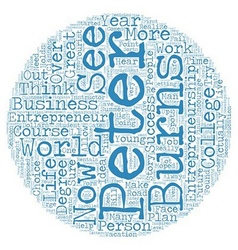 Peter burns entrepreneur text background wordcloud vector