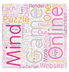 Puzzle Your Mind With Flash Games text background vector