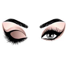 Eyelash Gold Makeup Vector Images (over