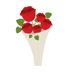 Roses bouquet icon vector
