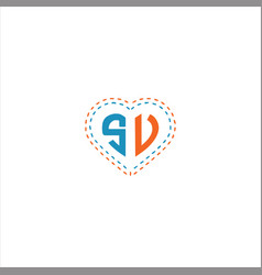 S v letter logo design on black color background vector