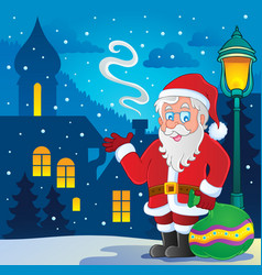 santa claus thematic image 7 vector image