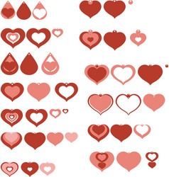 set design and decor elements heart shaped vector image