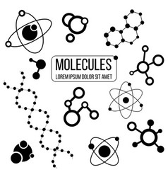 set molecule logo isolated icons vector image