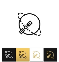 Silhouette navigation earth broadcast icon vector