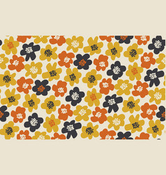 simple free drawn floral seamless pattern vector image
