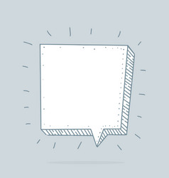 Speech bubble set in sketch hand drawn style vector