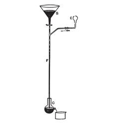 Sprengel pump vintage vector