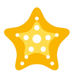 starfish tropical summer icon vector image