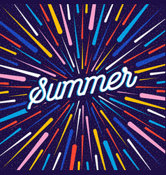 summer season greeting card with color decoration vector image