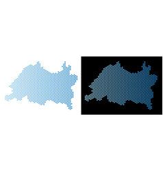 Tatarstan map hex-tile mosaic vector