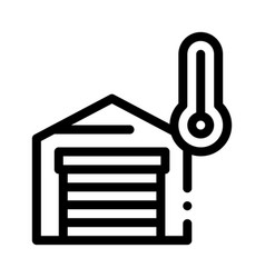 Temperature measurements in garage icon vector
