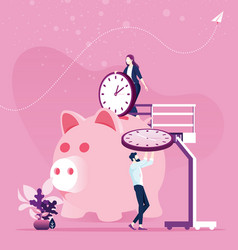 time management planning save time concept vector image