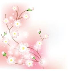 Tree blossom brunch vector