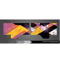 trifold folder template vector image