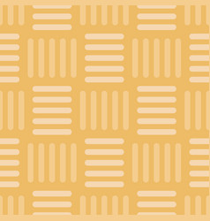 Vintage gold basketweave seamless pattern vector