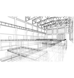 Warehouse sketch vector