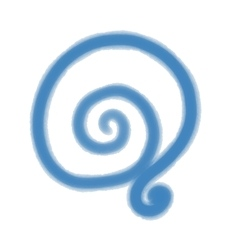 Watercolor blue spiral design for background vector