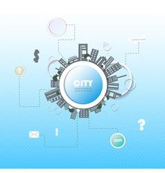 Web site design city vector