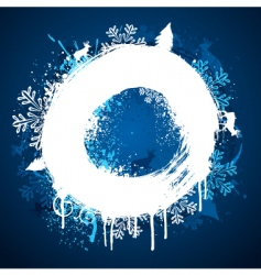 winter paint ring design vector image