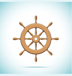 Wooden ship wheel vector image