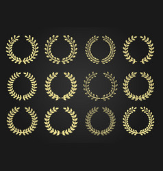 wreath icon set vector image