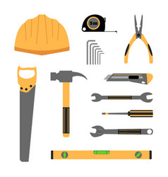 construction working tools icon set vector image