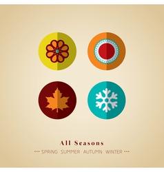 four seasons icon symbol vector image vector image