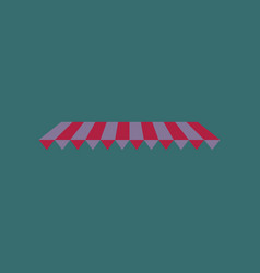 icon in flat design roof awning vector image vector image