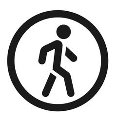 no pedestrians sign line icon vector image vector image