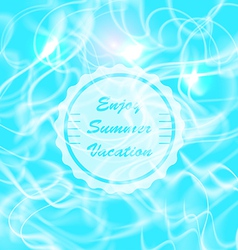 Summer Water Reflections vector image vector image