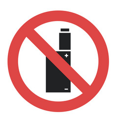 symbol - vaping forbidden smoking vector image