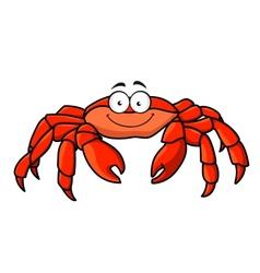 Cartoon red marine crab vector image
