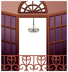 Elegant Balcony vector image vector image