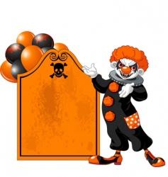 Halloween clown vector image