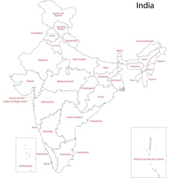 India map vector image vector image