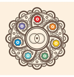 Mandala for wedding invitations and greeting cards vector image vector image