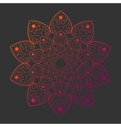 Mandala on gray background card template vector image