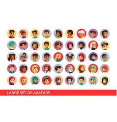 social network user avatars cartoon vector image