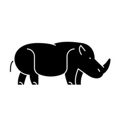 hippopotamus hippo icon vector image
