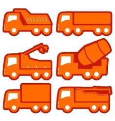 industrial transport set vector image