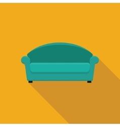 Stylized flat icon sofa vector image