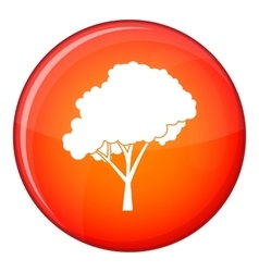 Tree with a rounded crown icon flat style vector image vector image