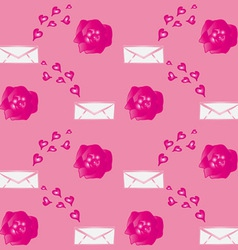 Valentine Flowers Envelopes vector image
