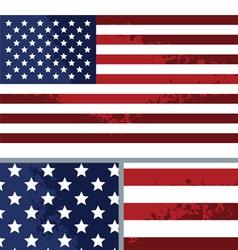 Vintage Distressed American Flag Background vector image